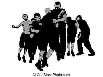 Street hooligans two - Fighting young street hooligans...