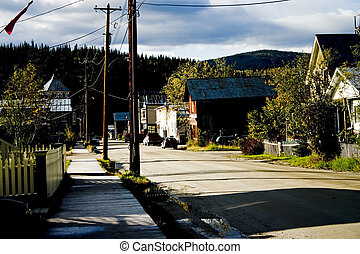Street in 1890s Gold Rush Town