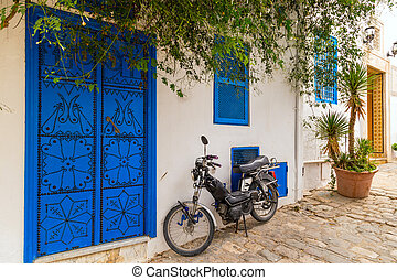 Street in a town in Tunisia