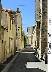 Street in Aigues-Mortes, France