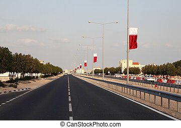 Street in Al Khor, Qatar, Middle East