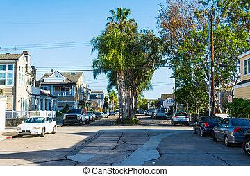 street in Balboa island