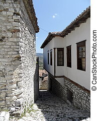street in Berat, Albania