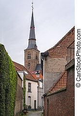 street in Bruges, Belgium