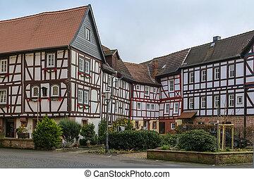 street in Budingen, Germany
