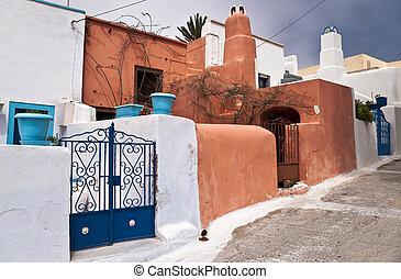 Street in greek village