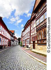 Street in Hildesheim - Old street in Hildesheim, Germany
