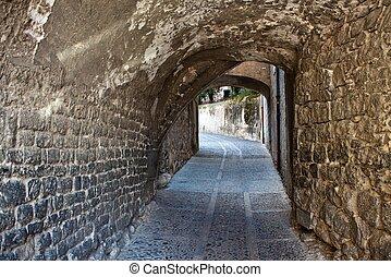 Street in historic centre of Girona