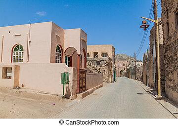 Street in Ibra Old Quarter, Om