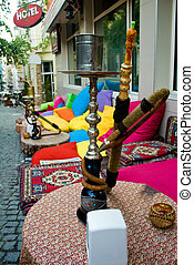 Street in Istanbul - Outside traditional turkish pub in...