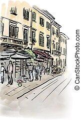 street in Italy
