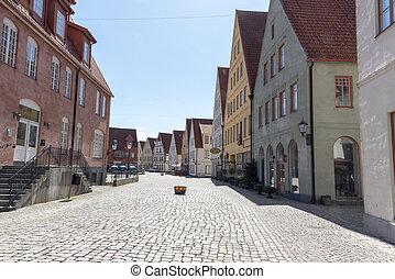 Street in Jakriborg in Sweden