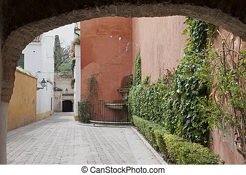 Street in jewish quarter, Sevilla, Spain