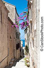 Street in  Korcula,  Croatia