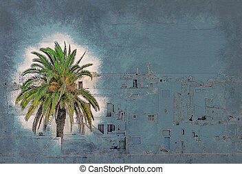 street in Medina in Sousse, Tunisia. - A street in Medina in...