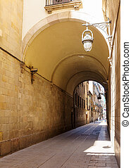 Street in old european city - Barcelona