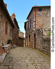 Street in old Italy town