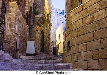 Street in Old Jaffa port.