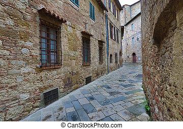 Street in old medieval italian town
