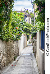 street in San Tropez, Cote dAzur, France