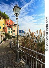 street in Sori, Italy