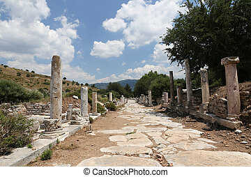 Street in State Agora of Ephesus, Izmir, Turkey