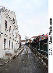 Street in the central part of Minsk