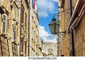 Street in the City of Dubrovnik in Croatia.