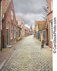 Street in the Dutch town of Heusden. Netherlands