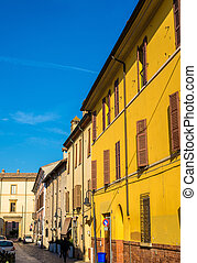 Street in the historic centre of Ravenna - Italy