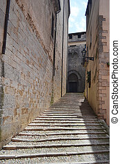 Street in the medieval quarter of Girona