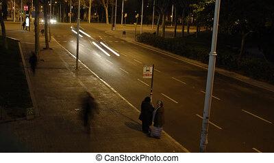 Street in the night, Barcelona