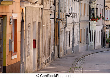 Street in the old city center of Ljubljana, Slovenia