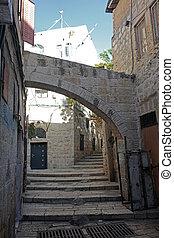 Street in The old City in Jerusalem, Israel