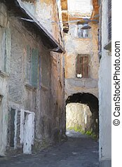 street in the old country