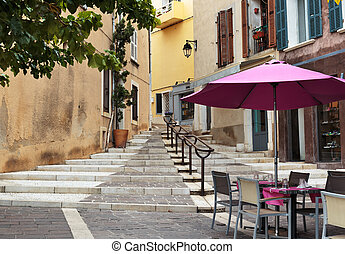 Street in the old town Cassis, France
