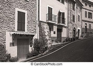 street  in the old town of Banyalbufar
