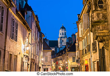 Street in the old town of Dijon, France