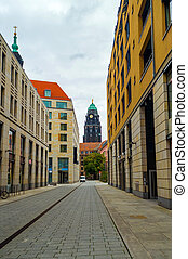 Street in the old town of Dresden.