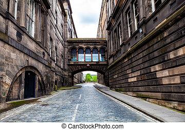 Street in the Old Town of Edinburgh