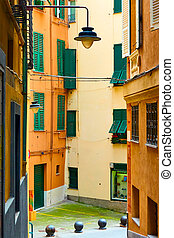 Street in the old town of Genoa