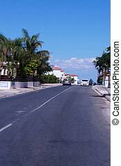 Street in the small seaside town of Cyprus