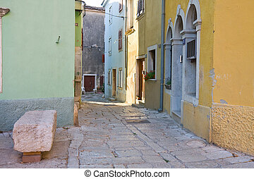 street in the small town Vodnjan, Croatia