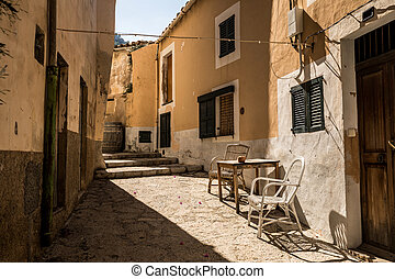 Street in the town of Banyalbufar