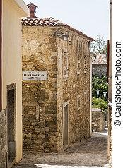 street in the town of Motovun