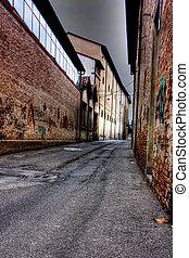 street in the twilight