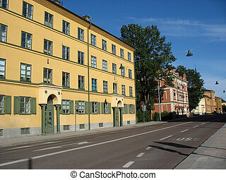 Street in Uppsala (Sweden)