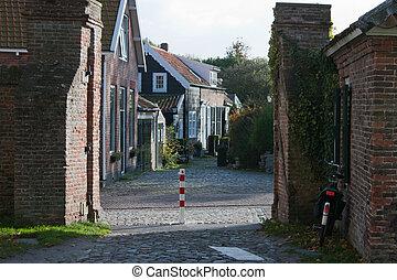 Street in Veere, Netherlands