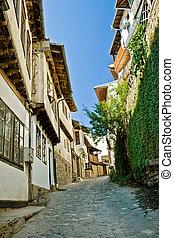 Street in Veliko Tarnovo, medieval town in Bulgaria