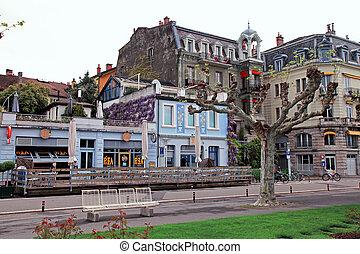Street in Vevey, Switzerland - Vevey, Switzerland - May...